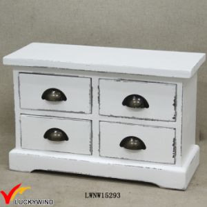 Retro White Solid Mini Wood Chest of Drawers pictures & photos