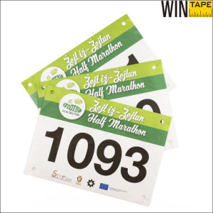 colorful Bespoke Running Printing Paper Bib Number pictures & photos