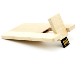 Bamboo/Maple Wood Slim Card 8GB USB Flash Drive Pen/Portable Storage GIF pictures & photos