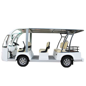 Hdk 8 Seater Electric Sightseeing Shuttle Bus with Rear Basket pictures & photos