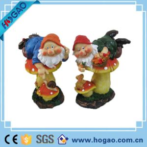 Gnomes on Mushrooms Playing with Animals Garden Statues pictures & photos