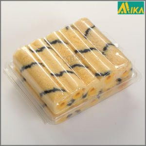 "4"" 10PCS Blister Packing Black on Yellow Acrylic Mini Roller"
