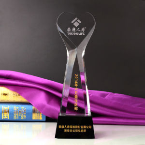 Crystal World Cup Trophy Craft Sandblasting Logo with Base pictures & photos