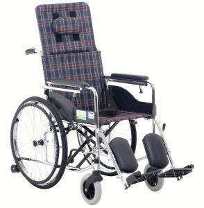 Hight Backrest Chrome Steel Wheelchair