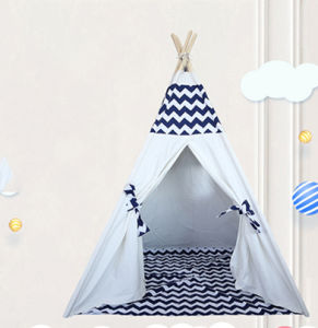 buy popular 133cc ef621 Kids Teepee Tent Children Play Tent Indoor &Outdoor Kids Playhouse White  Canvas Teepee with Wood Pole