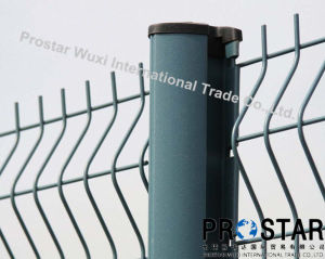 Galvanized 3D Wire Mesh Fencing with Rectangular Post pictures & photos