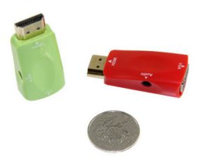 Green Color HDMI to VGA Converter 1080P pictures & photos