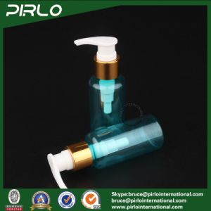 80ml Light Blue Plastic Lotion Pump Bottle for Liquid Soap Lotion with Metallic pictures & photos