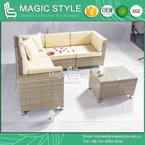 Outdoor Corner Sofa Set with Cushion High Quantity Loading Sofa pictures & photos