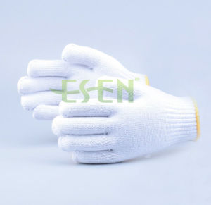 A Grade Knitted Cotton Glove, 900g Cotton Work Glove, White Knitted Gloves pictures & photos