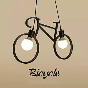 Modern Bicycle LED Coffee Shop Bar Droplight Pendent Lamp