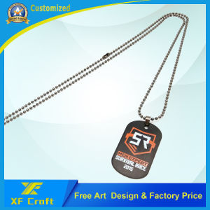 Customized Paint Dog Tag with Printing Logo on One/Both Side for Souvenir (XF-DT01) pictures & photos