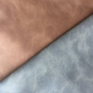 Synthetic PU Leather for Shoes Two Tone Effect Hx-S1780 pictures & photos