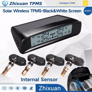 Solar Wireless TPMS Car Tire Pressure LCD Monitoring System + 4 External Sensors pictures & photos