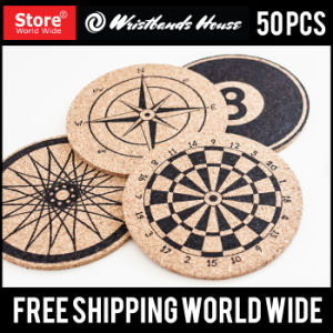 Custom Design Screen Printed Cork Coaster pictures & photos