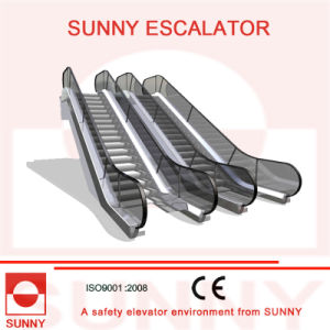 Escalator with Round Handrail Inlet Cap and Clearly-Contrasted Floor Plate, Sn-Es-D045 pictures & photos