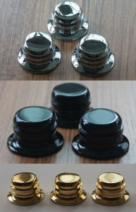 Plated Brass Control Knobs for Electric Guitars/Basses