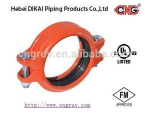 FM / UL Approved Flexible Coupling-Style 1n Ductile Iron Grooved Pipe Coupling Pipe Fittings pictures & photos