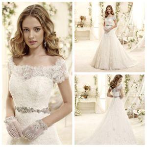 China Elegant Lace Short Sleeve Wedding Dress (XZ481) - China ...