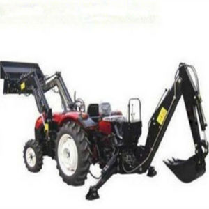 45HP 4WD Farm Tractor with Front End Loader and Backhoe