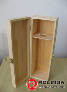 Wood Wine Packaging Box Wooden Cases Wooden Box for Wine pictures & photos