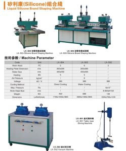 Liquid Silicone Label Making Machine on Garment (LX-S05) pictures & photos