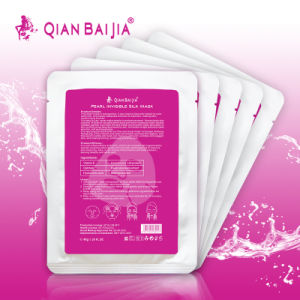 Deep sea skin moisturizing OEM service pearl invisible silk mask whitening moisturizing facial mask fibroin facial mask pictures & photos