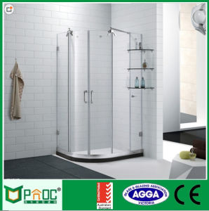 Hotel Luxury Stainless Steel Shower Enclosure With Tempered Glass