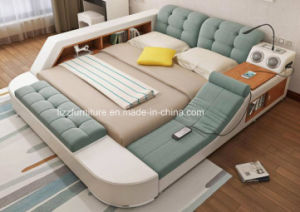 Modular Functional Fabric Double Bed With Storage