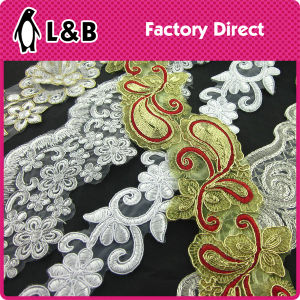 High Quality Fashion Garment Lace Black Sequin Embroidery Guipure Lace pictures & photos
