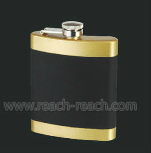 Stainless Steel Hip Flask with Rubber Coating (R-HF050) pictures & photos