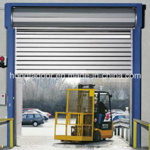 Hard Fast Rolling up High Speed Shutter Aluminum Door (HF-K63) pictures & photos