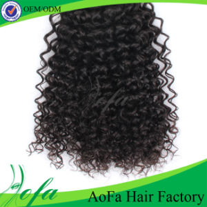 Black Abundant Kinky Curly Mongolian Waving Human Hair pictures & photos