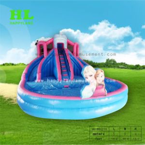 Dreamlike Inflatable Water Slide with Giant Swimming Pool for Kids Playing  Outdoor Exercises Game