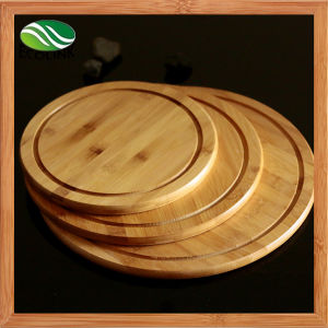 Round Bamboo Plate/ Snack Tray/ Pizza Plate pictures & photos