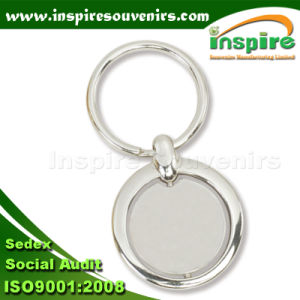 Round Shaped Spinner Key Ring for Promotion Gift (K504) pictures & photos