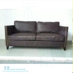 Modern Living Room Wood Frame Leather Sofa (HW 4472S)