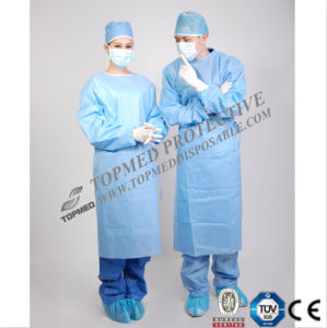 Medical Supply Sterilized Hospital Operating Theater SMS Disposable Surgical Gown pictures & photos