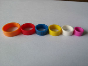 Customized Plastic Clip Pigeon Rings