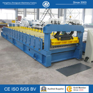 Corrugated Aluminium Roofing Roll Forming Machine pictures & photos