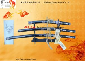 3PC Set Samurai Sword Kill Bill with Stand Decorative Sword