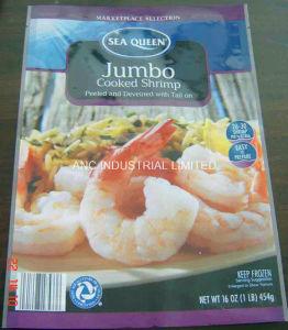 Vacuum Bag For Frozen Shrimp