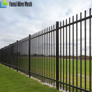 Black Powder Coated Ornamental Steel Fence for Commercial