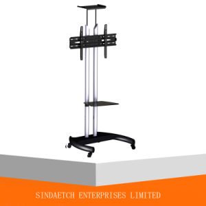 Mobile TV Cart, Height Adjustable Steel TV pictures & photos