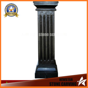 Black Marbke Stone Carving Decoration Column (NS-11C07) pictures & photos