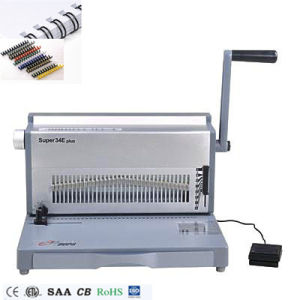 A4 Paper Size Office Electric Double Wire and Spiral Binding Machine (SUPER34E PLUS) pictures & photos