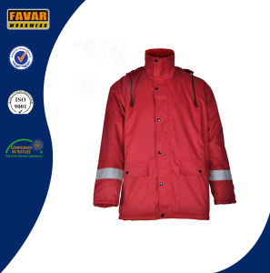 Breathable Winter Waterproof High Visibility Softshell Jacket/Waterproof Jacket with Hood