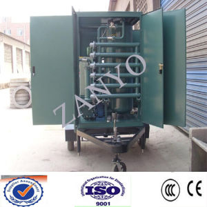 Mobile Trailer Type Insulating Oil Recycling Machine Online Working