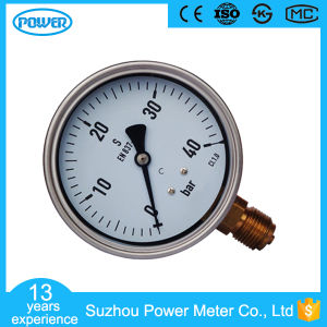 100mm Stainless Steel En837-1 Pressure Gauge Supplier Ce Approved