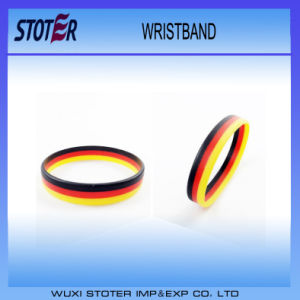 High Quality Silicone Germany Country Flag Wristband
